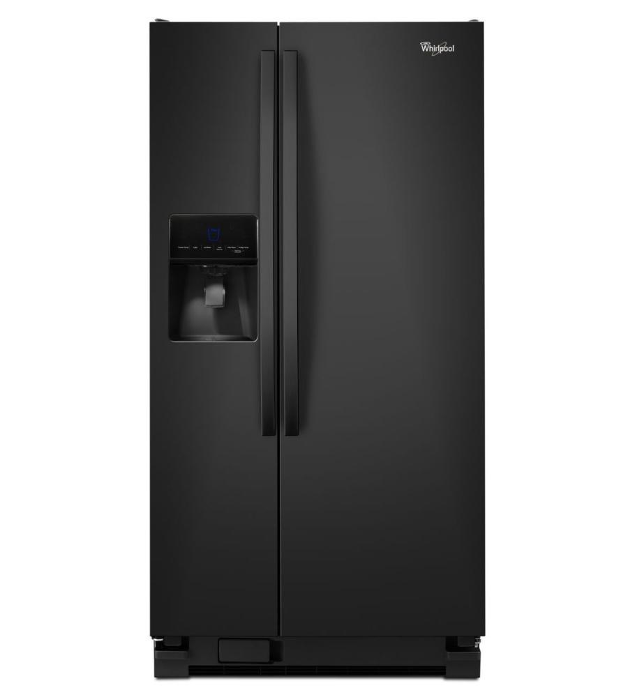 33 Inch Wide Side By Side Refrigerator With Water Dispenser 21 Cu Ft Whirl Wrs342fiab
