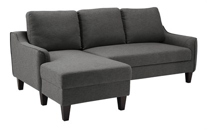 Jarreau Upholstered Sofa Chaise Sleeper Gray