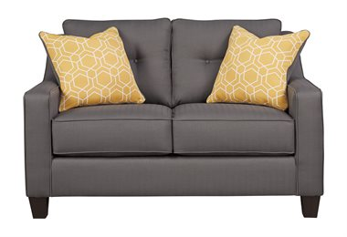 Nuvella Upholstered Loveseat Gray