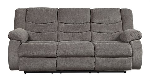 Tulen Upholstered Reclining Sofa Gray