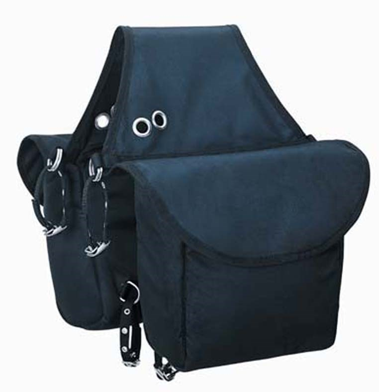Weaver Saddle Bag Nylon Insulated Web Attachment Straps and Velcro Closures