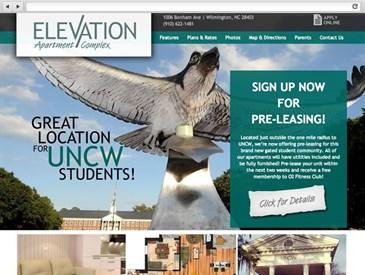 Elevation NC - apartment complex web design