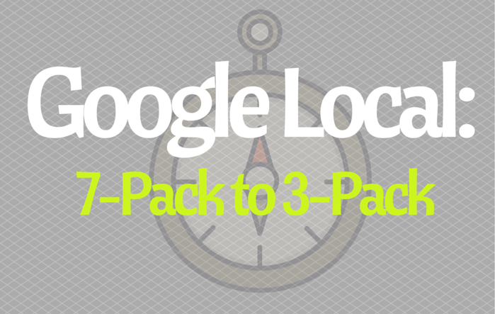 Google Local: 7-Pack to 3-Pack