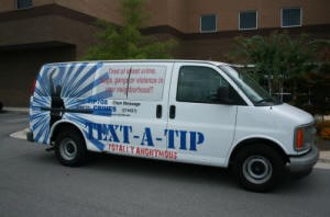 Text-A-Tip Van