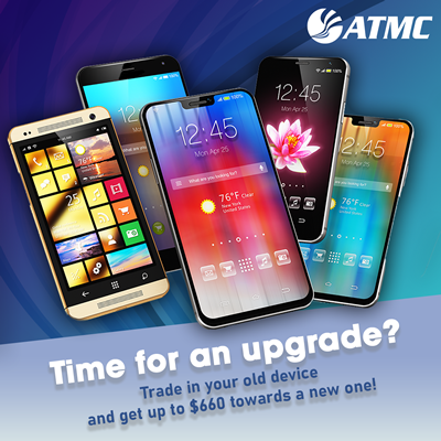 Time for an upgrade? Trade in your old device and get up to $660 towards a new one!