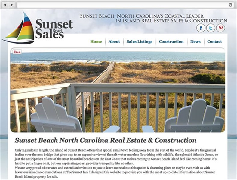 Sunset Beach Sales - Real Estate Web Design
