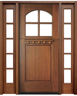 4LT MAHOGANY DUTCH DOOR WITH CLEAR BEVELED ARCHED LOW-E GLASS AND SIDELITES / CHOICE & Shop Grand Entry Doors - GrandEntryDoors