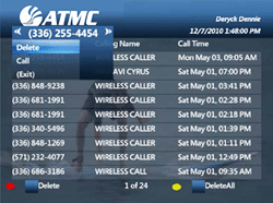 To view Caller ID History
