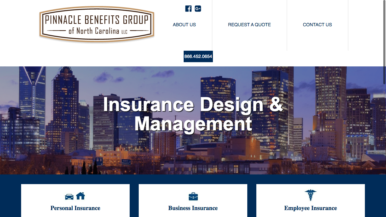 Pinnacle Benefits Group - Insurance Website Design