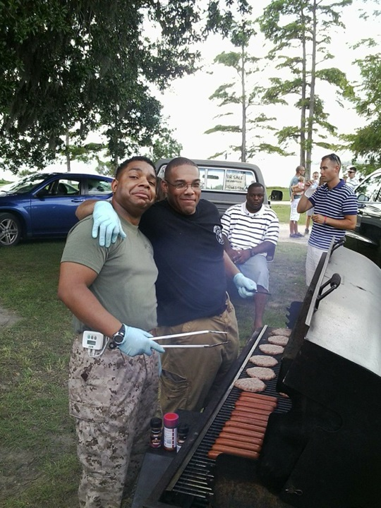 Camp Lejeune Cook Out Aug 2013
