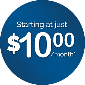 Starting at just 9.99 per month