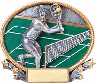 MX - Male Tennis Burst-through Figure