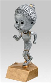 BH-6 - Female Track Bobblehead Figure