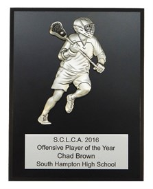 MCP810 Male Figure Lacrosse Plaque