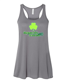 Shamrocks Gray Ladies Tank Top - Order due by Wednesday May 8, 2019