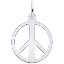 SPC - Sterling Silver Peace Sign Charms