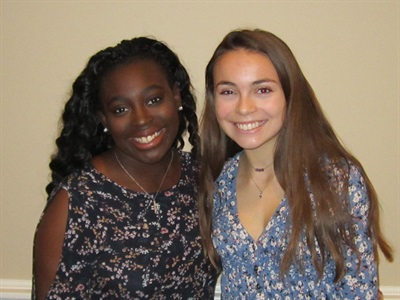 2019 LWGA Scholarship Winners - Maya Williams (May River HS) and Eliza Jane Coulter (HHI HS)
