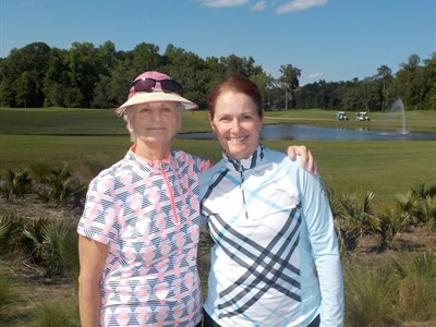 Match Play Flight 4 Winners - Anita Barreca and Mary Pat Bonchosky