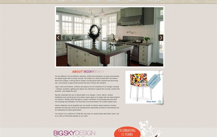 Big Sky Designs Website
