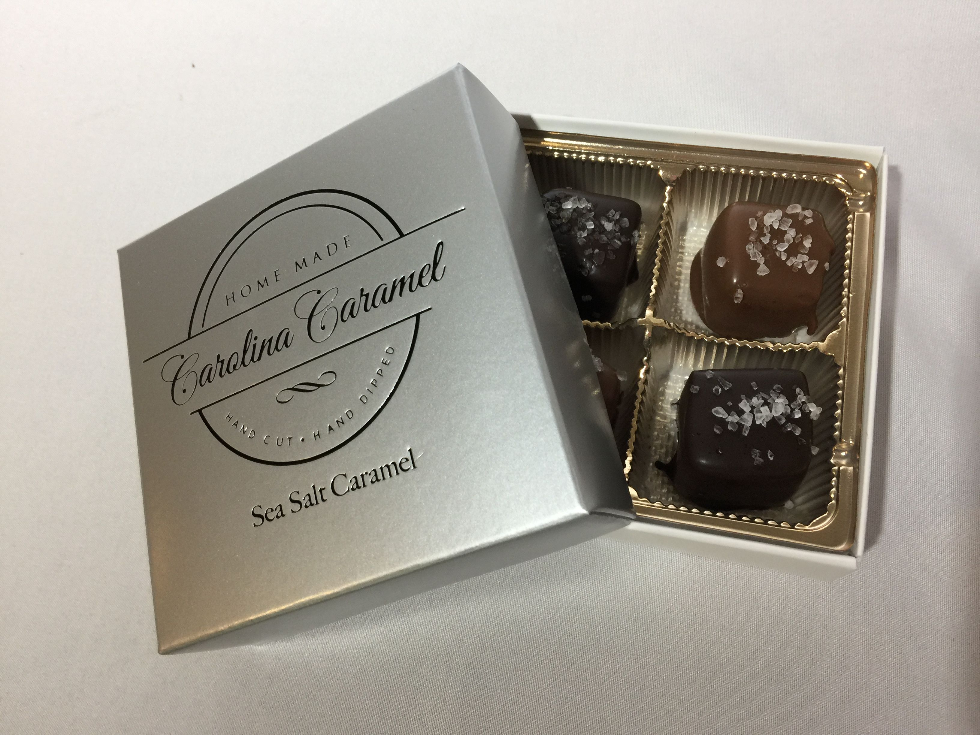 Carolina Coffee Sea Salt Caramels - 4 Piece Box
