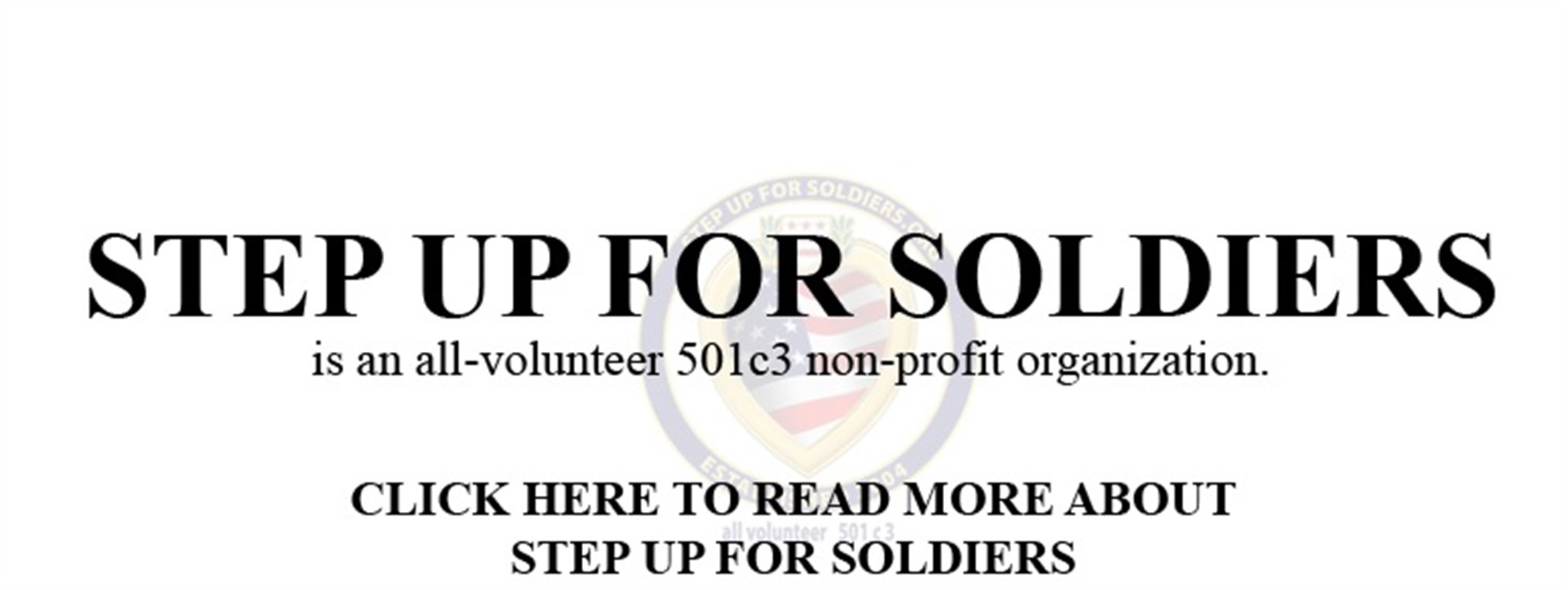 Step up for Soldiers