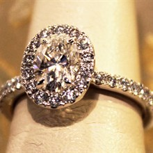 Diamond Oval Halo Ring available at Albert F. Rhodes Jewelery