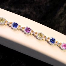 Multi-Color Sapphire & Diamond Bracelet available at Albert F. Rhodes Jewelery