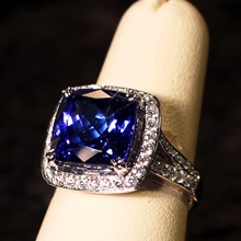 Tanzanite and Diamond Ring Set available at Albert F. Rhodes Jewelery