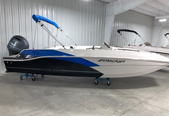 2021 Starcraft SVX 211 Electric Blue/Silver/Black Boat