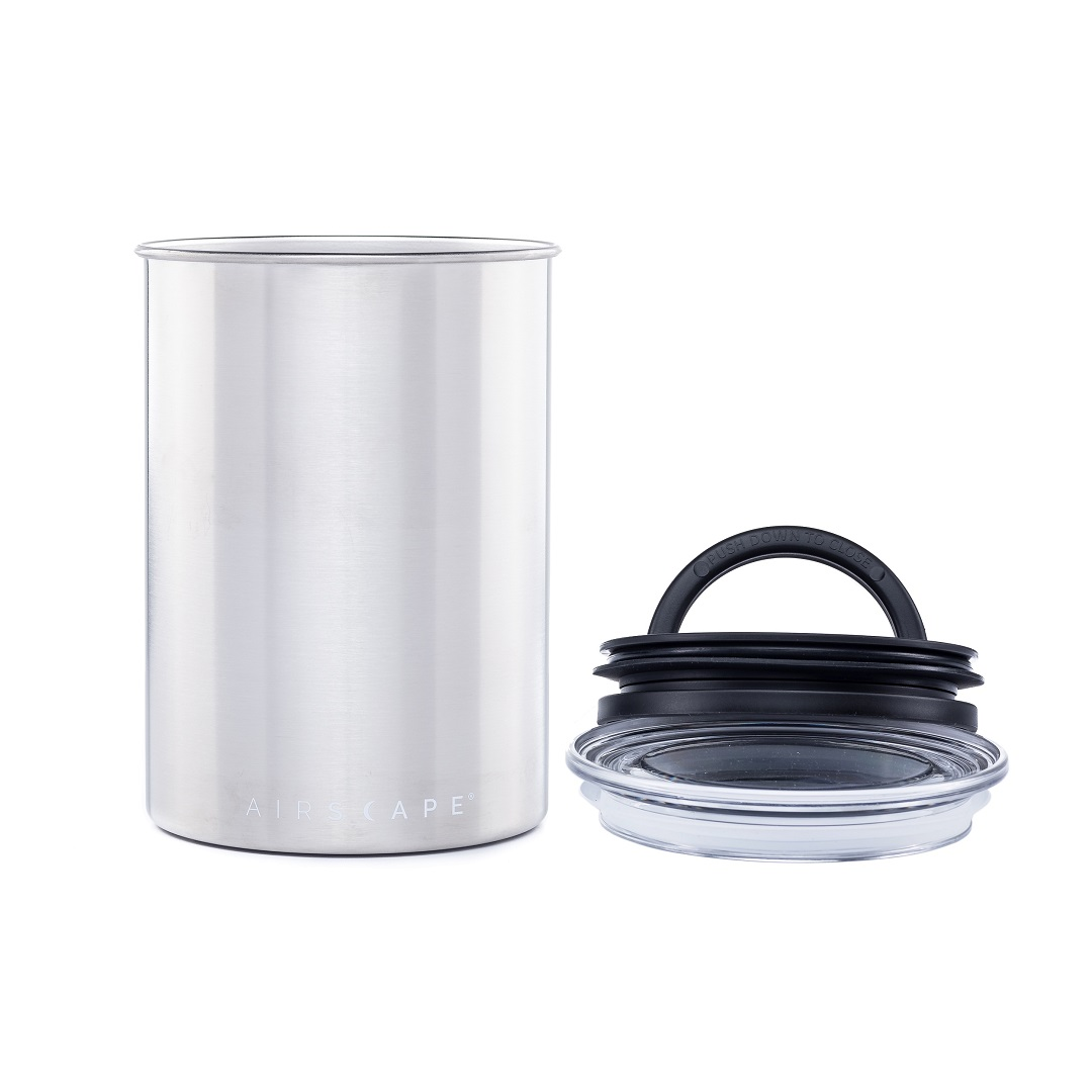 Carolina Coffee Airscape® Classic Stainless Steel - Brushed Silver - One Pound