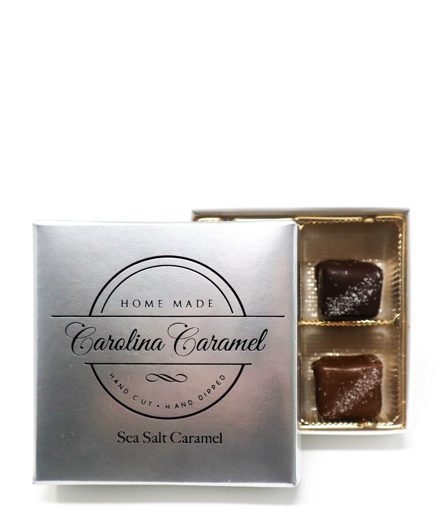 Carolina Coffee Sea Salt Caramels - 4 Piece Box