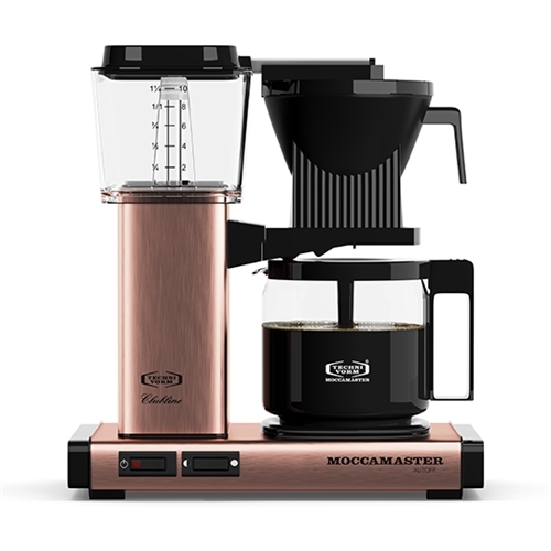 Carolina Coffee Technivorm Moccamaster KGB Automatic Drip Stop Coffee Maker With Glass Carafe - Copper