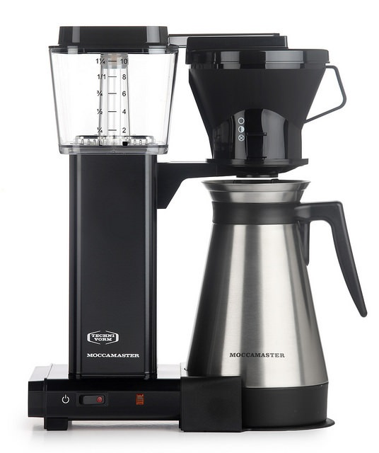 Carolina Coffee Technivorm Moccamaster KBT Manual Drip Stop Coffee Maker with Thermal Carafe - Black