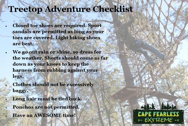 Treetop Checklist