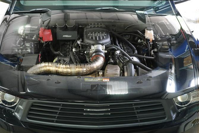 Engine through hood